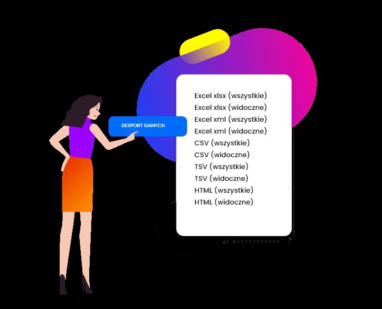 eksport danych do pliku z systemu CRM