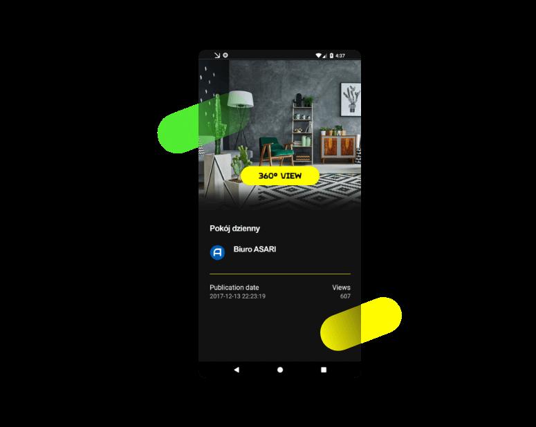 Mobilny edytor wirtualnych spacerów