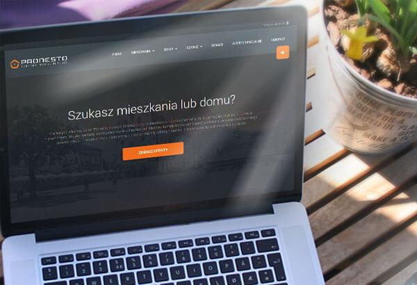 Witryna internetowa Pronesto
