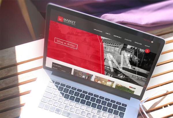 Projekt strony WWW Market Nieruchomości