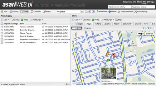 Mapa w asariWEB