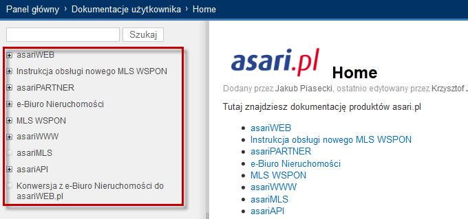 Jak korzystać z instrukcji dla produktów ASARI