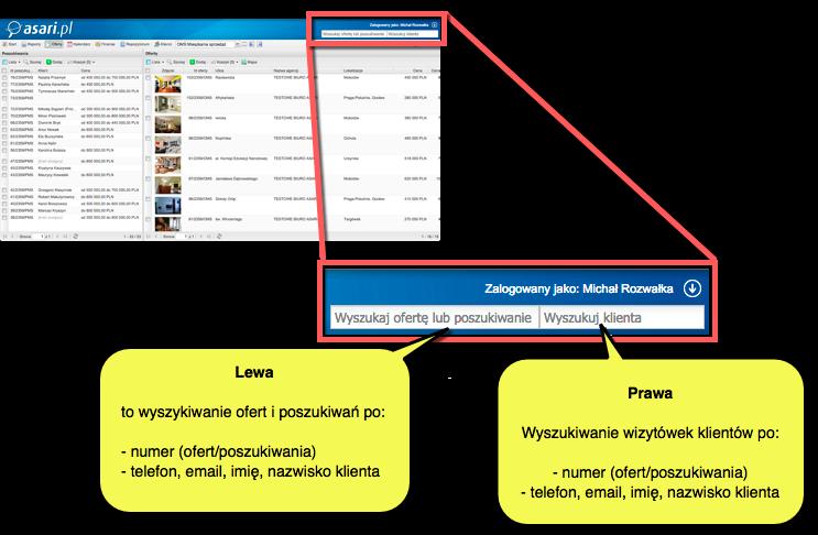 Szybka wyszukiwarka w asariWEB - schemat działania