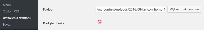 Zmiana favicon w WordPress dla szablonów stron ASARI