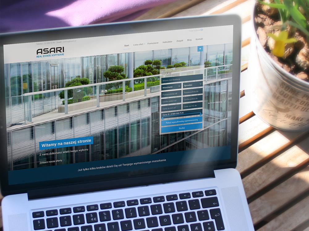 Strona www dla biura nieruchomości