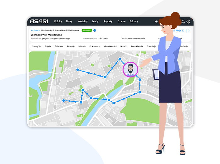 Geolokalizacja pracowników firmy z ASARI Tracker